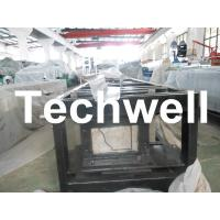 Wholesale Steel 0.3mm - 0.6mm Mobile / Portable Gutter Roll Forming Machine for Rainwater Gutter from china suppliers