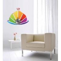 Wholesale Modern Home Decoration Crystal Boat Wall Sticker Clock 10D013 from china suppliers