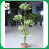 Buy cheap UVG PLT12 PU artificial lotus decorative plants for garden decoration from wholesalers