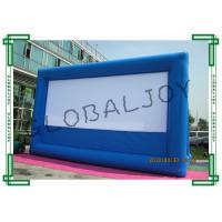 Wholesale Durable Inflatable Movie Screens / Air Screen Blue 10m x 5.7m from china suppliers
