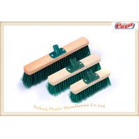 Wholesale Green PP Screw Wooden Sweeping Brooms Durable Push Broom 23cm from china suppliers
