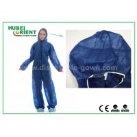 Wholesale Disposable Non woven long sleeve coveralls With Elastic Wrists and Ankles , Size custom from china suppliers