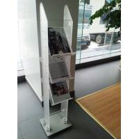 Wholesale 3 Tiers Frosted Acrylic Magazine Display Stand  / Plastic Pop Display from china suppliers
