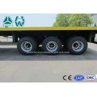 3 Axles 20 Ft / 40 Ft Container Flatbed Trailer For Cargo Transport