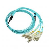 Quality Multimode Simplex 8,12,24 Cores MPO To LC Or SC Jumper Cable Fiber Optic Assembly Cable for sale