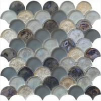 Wholesale Magic grey series water waving glass mosaic for man's room from china suppliers