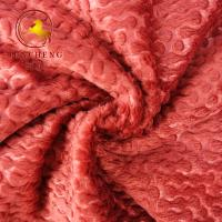 Wholesale New Design Super soft embossed polyester fleece fabric for sofa and home decoration from china suppliers