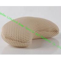 Wholesale Comfort Japanese Spa Bath Pillow , 3D Mesh Cloth Pe Pipe Travel Neck Pillow from china suppliers