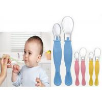 Wholesale Soft BPA Free Silicone Baby Feeding Spoons Double Ended Serving from china suppliers