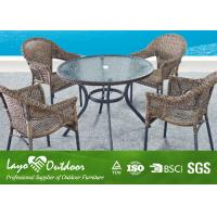 Wholesale Customized Outdoor Patio Furniture Dining Sets With Round Table And Chairs  Powder Coated Frame from china suppliers