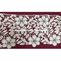 Wholesale 3 '' White Crochet Lace Trim / Chemical Embroidery Laces Single Side Straight from china suppliers