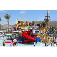 Wholesale Giant Water House Aqua Playground Platform for Family Fun with Spiral Water Slide from china suppliers