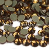 Wholesale hot fix rhinestones Crystal flat back stones DMC Smoked Topaz ss16 ss20 ss30 from china suppliers