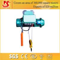 Single and double speed wire rope push electric hoist