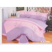 Wholesale Pink Floral 100 % Cotton Decorative Designer Embroidered Bedding Sets from china suppliers