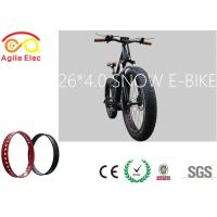 Wholesale Motorized Beach Cruiser Bicycles , Fat Tire Cruiser Bike Down Tube Battery from china suppliers