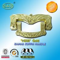 Wholesale Ref H008 Gold Size 19 X 11 Cm Casket Handles , Zinc Alloy Coffin Accessories from china suppliers