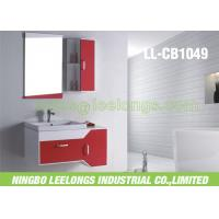 Wholesale Wall Mounted Modern Bathroom Vanity Cabinets PVC With 5mm Thickness Sliver Bathroom Mirror from china suppliers
