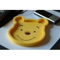 Quality Durable Plastic Coin Tray Customised Winnie Pooh Shape PVC Coin Tray for sale