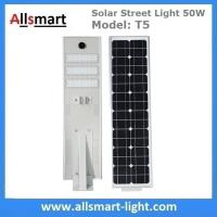 Wholesale 50W Solar Street Lights Aluminum All in One Solar LED Street Light Outdoor Radar Sensor Solar Lights for Driveway from china suppliers