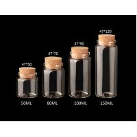 Wholesale 47mm Good Quality Glass Jars Bottles with Cork lid,  for  DIY, Arts & Crafts, Projects, Decoration from china suppliers