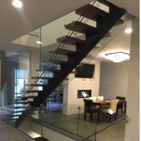 Wholesale Classic european style black stair steel tread staircase from china suppliers