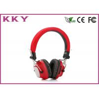 Quality Fashion Design Portable Bluetooth Headphones , Red Wireless Earphone For Mobile for sale