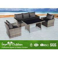 Wholesale Customized Colorful Indoor Wicker Rattan Sets , Patio Seating Sets Patio Chair Cushions from china suppliers