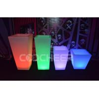 Wholesale Remote Control Illuminated Led Lighted Flower Pots / Flower Planter Luxury from china suppliers