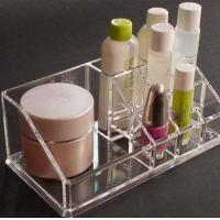 Wholesale Crystal Acrylic Cosmetic Display Holder , Transparent Acrylic Makeup Display Holder from china suppliers