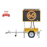 Wholesale EN12966 Mobile LED Displays , Colour Variable Message Signs Trailer Mounted from china suppliers