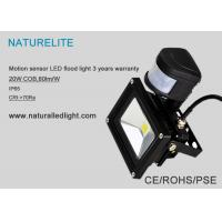 Quality Motion Sensor PIR 20W Led Flood Lights for Outdoor Super Bright Cool White for sale