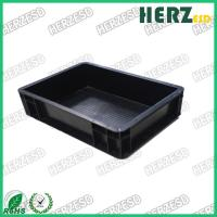 China Black Color Anti Static Storage Boxes Surface Resistance 103-109 Ohms on sale