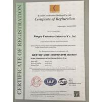Jiangsu Unisource Industrial Co.,Ltd. Certifications