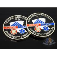 Wholesale Craft Die Cast Brass Challenge Coin , Small 3D Challenge Coins With Epoxy from china suppliers