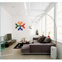 Wholesale 2012 New Design Vinyl Wall Sticker Clock 10A053 Flower Wall Decoration from china suppliers