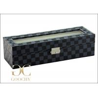Buy cheap Tempering Glass Cover Leather Watch Storage Box For Louis Vuitton Damier Graphite from wholesalers
