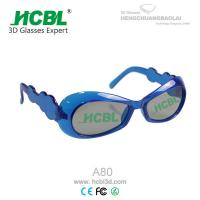 Wholesale Cute Deep Blue Frame Kid 3D Glasses / Eyeglasses For Passive 3D TVs from china suppliers