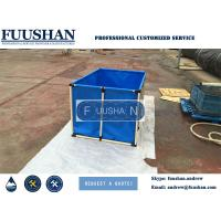 China Fuushan Round PVC Tarpaulin Foldable Cat Fish Pond For Fish Farms on sale