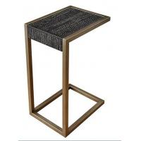Wholesale wooden top brass color stainless steel metal side table/End table/coffee table/C table, hotel furniture,casegoodsTA-0085 from china suppliers