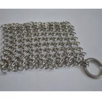 Wholesale Round Stainless Steel Ring Mesh / Chainmail Scrubber For Cleaning Kitchenware from china suppliers