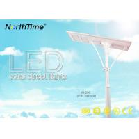 Wholesale Aluminum Solar LED Street Lamps , Solar Panel Street Lights Last 4 Rainy Days from china suppliers