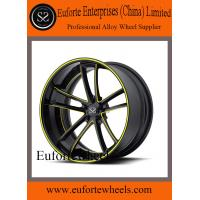 Wholesale Black / Red Forged Wheels For Mercedes Benz , Aftermarket Audi Wheels from china suppliers