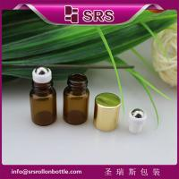 Wholesale 1ml 2ml cute metal ball glass bottle,100% no leakage mini glass roll on bottle from china suppliers