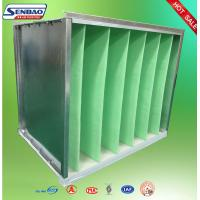 Buy cheap Industrial Air Purifier Filter Galvanized Frame V Cell Secondary Air Filter from wholesalers