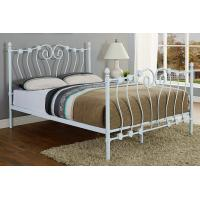 Wholesale Cream Boys / Girls Metal Frame Bed Metal Base Beds Long - Lasting Stability from china suppliers
