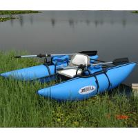 Wholesale Kids Fireproof Inflatable Boat With Motor , Blue 4 Person Inflatable Boat from china suppliers