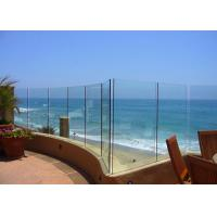 Wholesale Seaside Outdoor Glass Panel Railings , Toughened Glass Deck Railing 12mm from china suppliers
