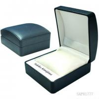Buy cheap Black PU Personalised Watch Box / Mens Watch Display Case Oval Shaped from wholesalers