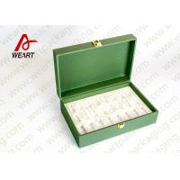 Wholesale Inside & Outside Green Printed Recycled Paper Gift Box With Fabric Classic Design from china suppliers
